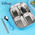 3 штуки Дисней детская столовая посуда, нержавеющая сталь детская служебная табличка милые студенческие Кормление Ланч-бокс палочки для ед...