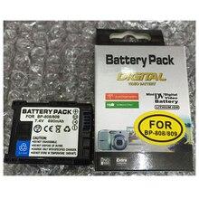 BP-808 Digital Camera Battery BP808 lithium batteries pack BP 808 FOR CANON FS10 FS100 FS11 FS20 FS200 FS21 FS22