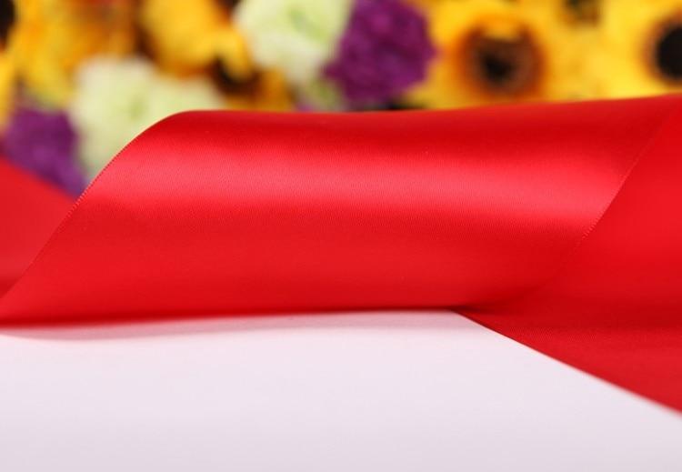 """[IuBuFiGo] 3-1/""""(89 мм) одинарная атласная лента для свадьбы атласная лента 100 ярдов/рулон"""