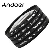 Andoer 49mm Macro Close-Up Filter Set + 1 + 2 + 4 + 10 con il Sacchetto per Nikon Canon Sony Dslr