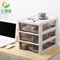 Upscale 2 or 3 Layers Desktop Drawer Storage Box Sundries Case Small Objects Cosmetics Box Wholesale Desktop Organizer