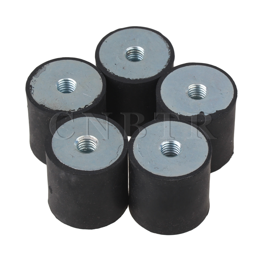 CNBTR DDM8 30x30MM Type Rubber Anti Vibration Mount Silentblock Base Block Pack Of 5