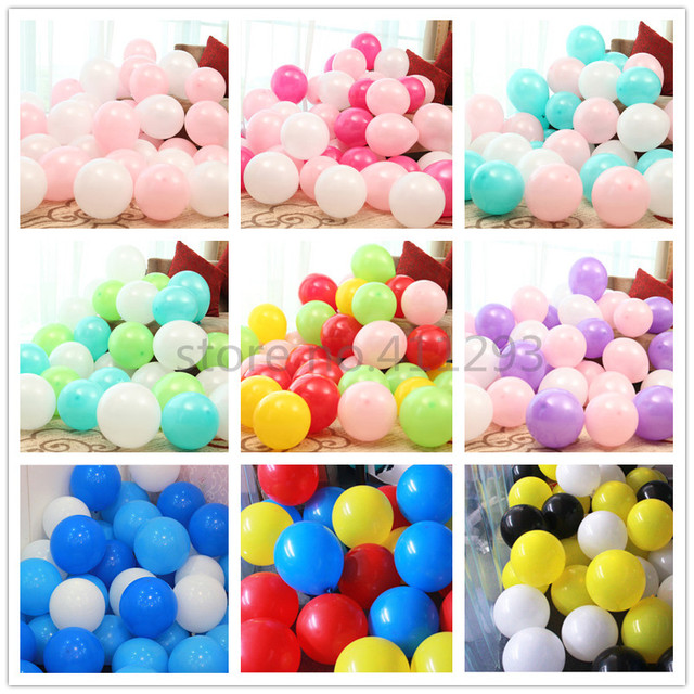 20pcs/lot latex balloons Birthday ballon wedding globos ivory white pink peach teal mint green color helium ballons Christmas