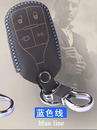 Натуральная кожа ключа автомобиля чехол обложка смарт-держатели для ключей смарт-ключ чехол Дистанционного Флип Key Чехла для Maserati
