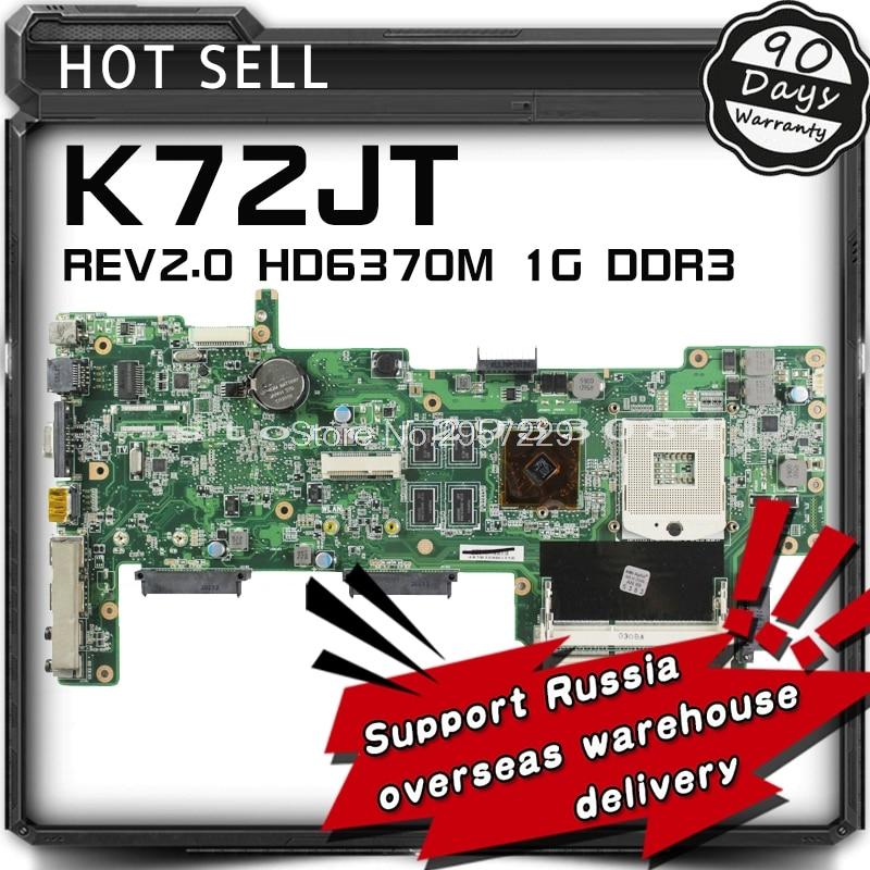 K52JR REV:2.3A 8 Pieces video memory motherboard For Asus K52JR A52J X52J K52JU K52JT laptop motherboard warranty 90 days S-6 for asus k52jt k52dr laptop motherboard 60 n1wmb1100 rev 2 3 8 video memory non integrated graphics card 100