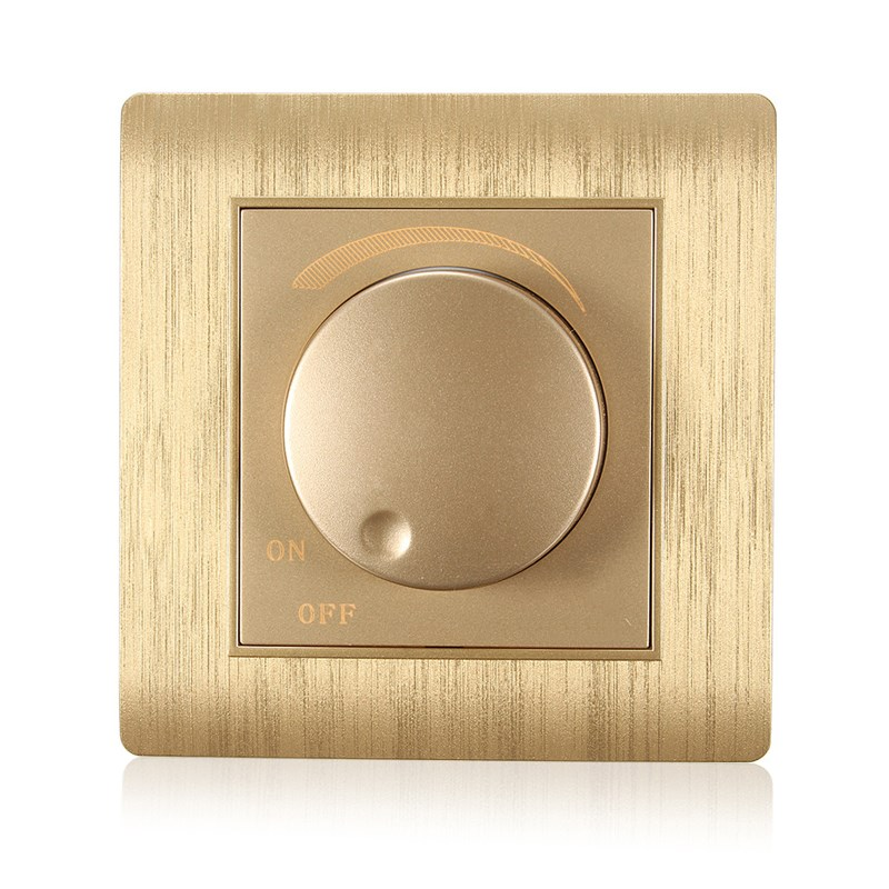 Kempinski Luxury Wall Switch, Light Dimmer, Champagne Gold, AC 110~250V, C31 series насадка удлинитель 10см cyberskin минивибратор