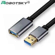 0.5m 1m 1.5m przedłużacz USB Super prędkość USB 3.0 kabel męski na żeński Transfer danych synchronizacja kable kod dla kamera PC mysz