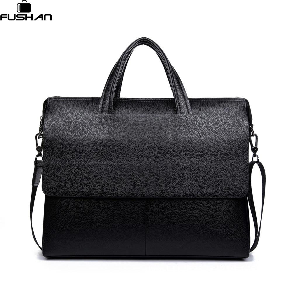 ФОТО Luxury Brand Leather Men Bags vintage Business Leather Briefcase Men's Briefcase Mens Travel Bags Tote Laptop Bag Handbags
