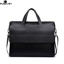 Luxus Marke Leder Männer Taschen vintage Business Leder Aktentasche männer Aktentasche Herren Reisetaschen Tote Laptop Tasche Handtaschen