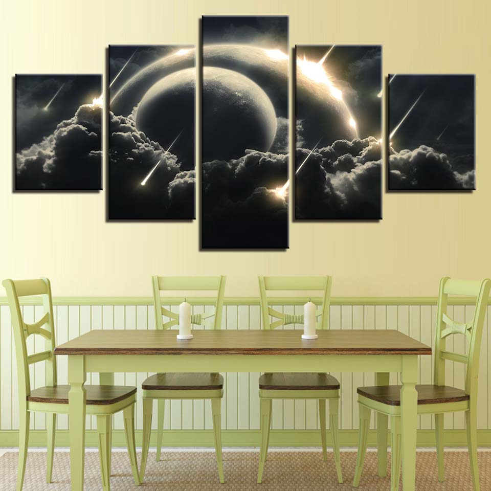 Home Decor Canvas Paintings For Living Room Wall Art 5 Pieces Meteor ...