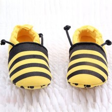 Cute Children Baby Boys Girls Soft Cotton Yellow Animal Bees Of Tentacle Ladybird Design Infants First Walker Shoes  0-1Years