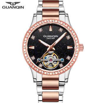 Reloj Mujer GUANQIN 2018 watch women Automatic Tourbillon Dress top brand famous Mechanical watch waterproof bayan kol saati - DISCOUNT ITEM  48% OFF All Category