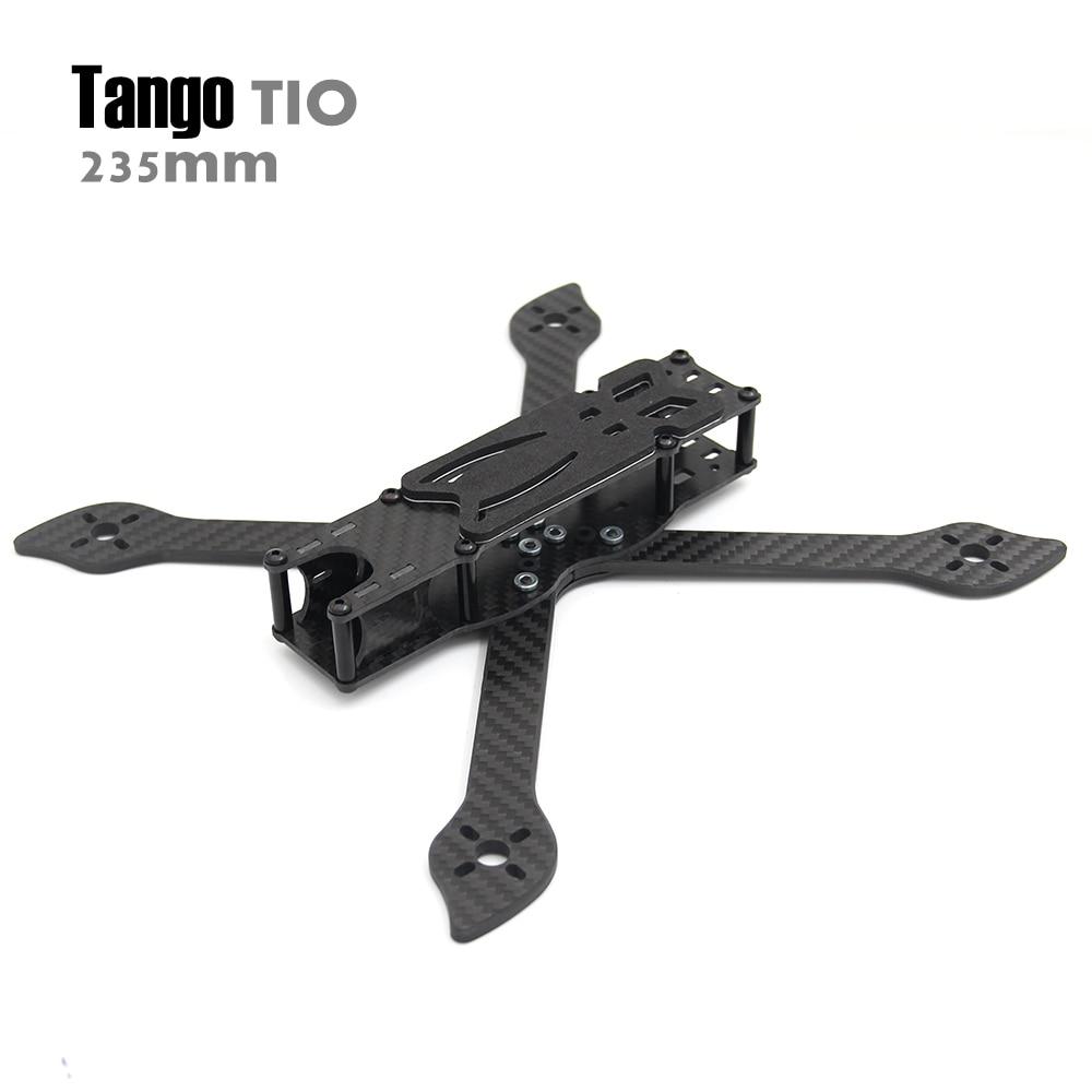 Tango tio 5 pouces 235mm 235 5' true X avec bras de fraisage quadrirotor drone cadre kit amélioré en carbone