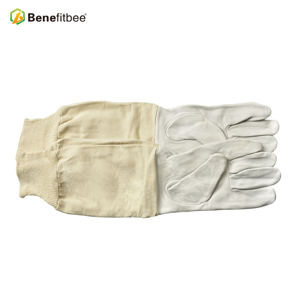 Benefitbee Beekeeping Apicultura Gloves Bee For Beekeeper Protective Durable Sheepskin Leather Equipment