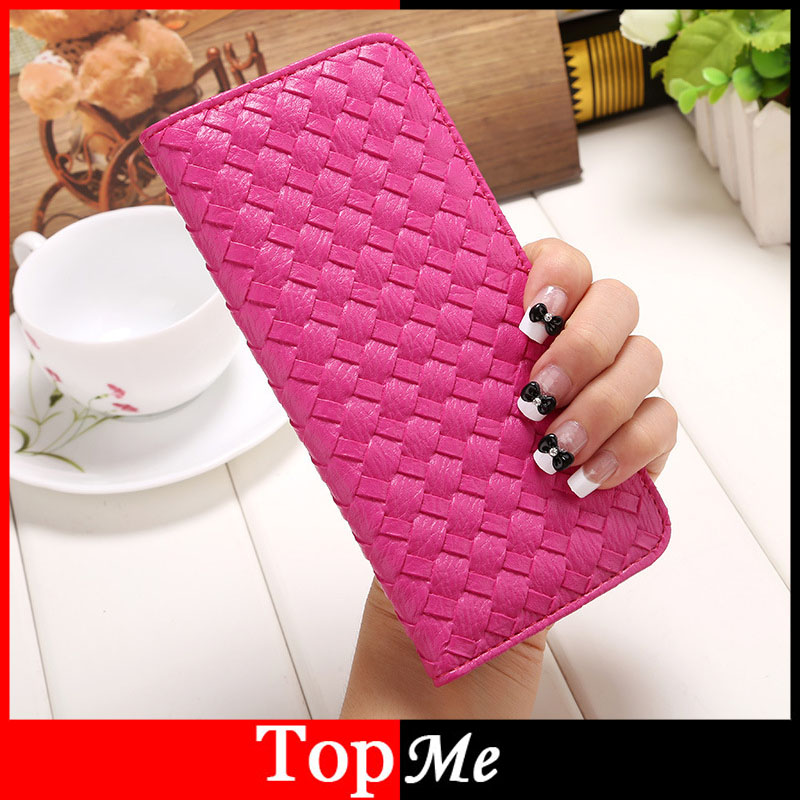 Women Purse Handbags Cards ID Holder Brand Waved PU Leather Hasp Lady Purses Moneybag Girls Woman Long Wallets Money Bags Burse