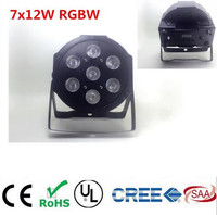 RGBW 4in1 7x12W Led Par DMX Stage Lights Led Flat Par High Power Light With Professional