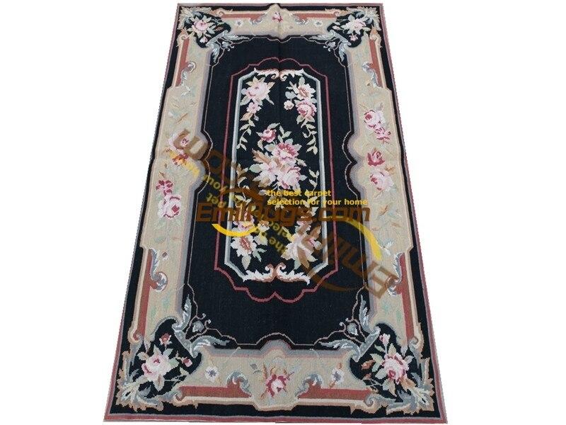Le vieux tapis européen à aiguille le pays usé accueil tapis d'échecs laine tapis à tricoter tapis fait à la main