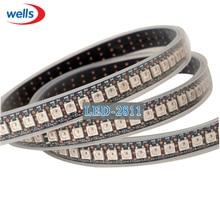 144 픽셀 1m LED WS2812B 2812 WS 2812 LED 칩 WS2811 IC 디지털 5050 SMD RGB LED 스트립 DC5V