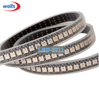 144 Pixels 1 m LEDs WS2812B 2812 WS 2812 LEVOU Chip DC5V WS2811 IC Digital de 5050 RGB SMD LED Strip