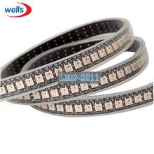 144 piksel 1m LED WS2812B 2812 WS 2812 LED çip WS2811 IC dijital 5050 SMD RGB LED şerit DC5V