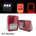 2 PCS New Style Plug and Play Montagem Lanterna Traseira de LED Freio Reverso Luz da cauda Versão DOS EUA DA UE Para Jeep Wrangler 07-15 Frete Grátis