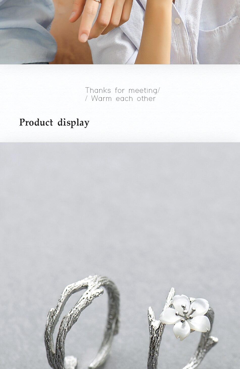 HTB1Te1BKk9WBuNjSspeq6yz5VXat Thaya White Cherry Blossom Silver Ring s925 Silver Natural Pearl Shell Flower Branch Rings for Women Elegant Ladies Jewelry