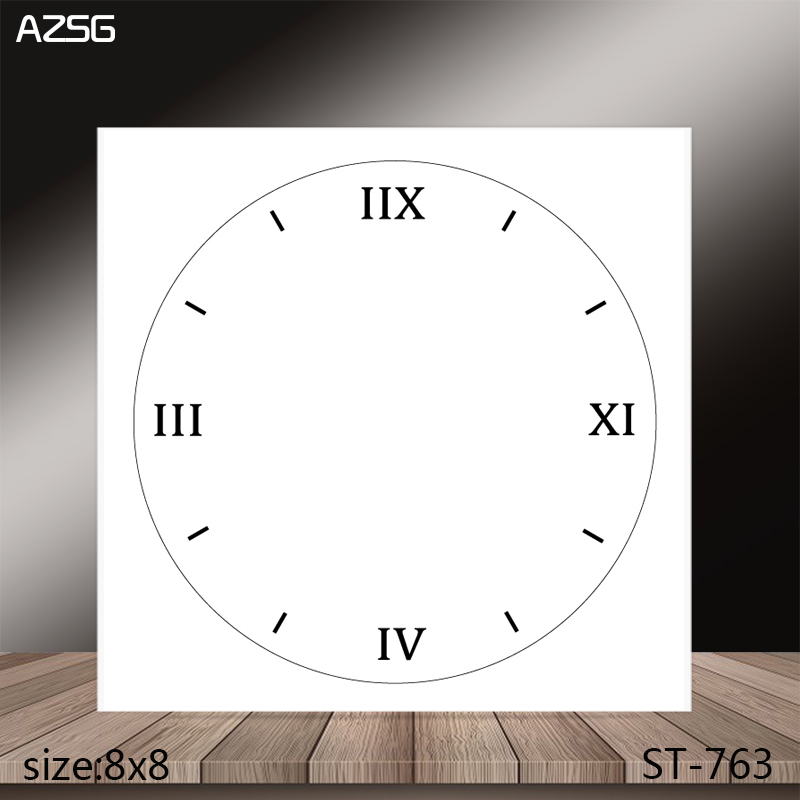 AZSG Clock Clear Stamps/Stamp/For Scrapooking/Card Making/Silicone Stamps/Decoration  Crafts