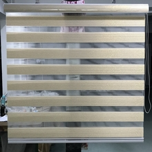 Zebra Blinds Luxurious Roller Shade Double Layer Translucent Window Curtains for Living Room Golden Yellow