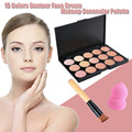 15 Colors Matte Contour Face Cream Makeup Concealer Palette Brush Sets Professional Facial Cosmetic