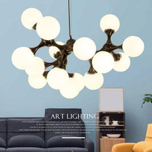 цена на LED molecular Pendant lights  Nordic  pastoral small restaurant bar living room hanglamp Branching Molecular Bubble Lamp