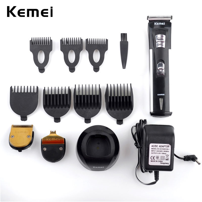 Kemei Electric Hair Trimmer Professional Hair Cutter Rechargeable Clipper Men Beard Trimmer Hair Cutting Machine Adjustable Comb 100pcs professional stainless steel cuticle cutter nipper clipper edge cutter shear manicure trimmer scissor plastic