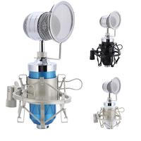 Professional Stereo Audio Condenser Microphone Set Recording Mic With Shock Mount For Radio Braodcasting KTV Karaoke
