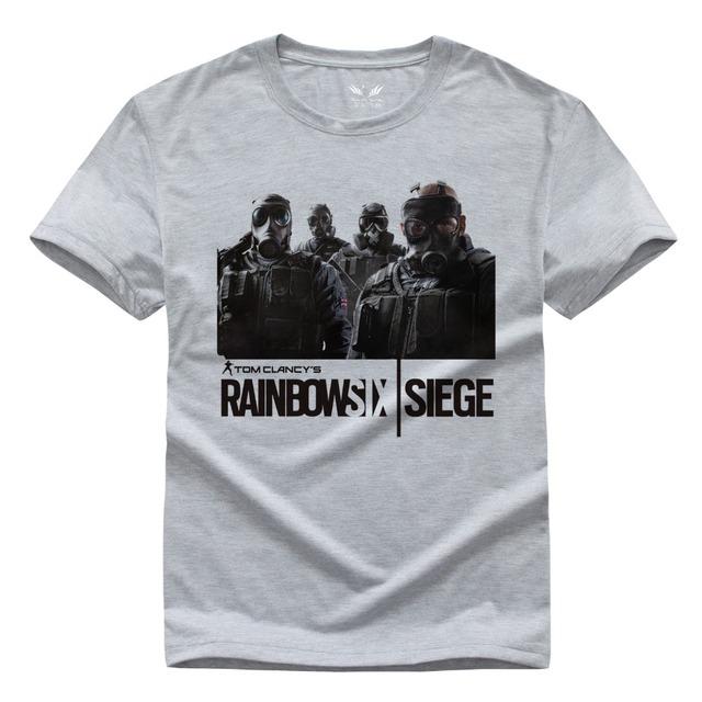 Rainbow Six Cerco t-shirt Tom Clancy Impressão Original de Design de Moda Estilo Casual mens moda camisas t 2016 T-shirt de Algodão
