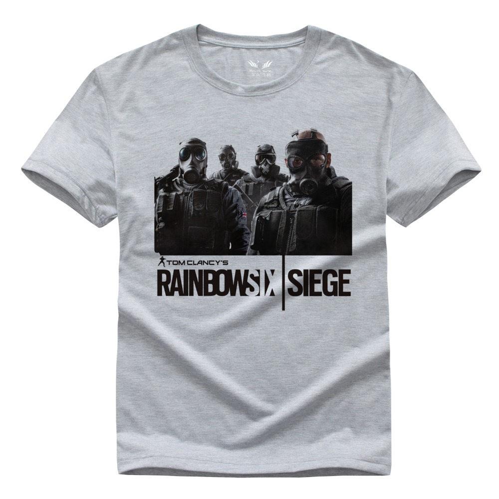 Rainbow Six Siege t-shirt Tom Clancy Print Original Design Fashion Style Casual mens t shirts fashion 2016 Cotton T-shirt