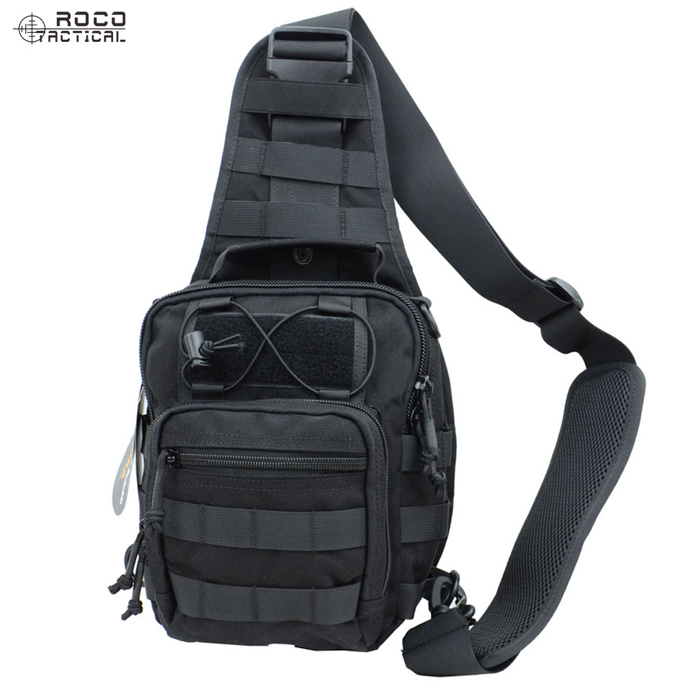 Multifunctional Unisex Tactical Sling Pack Chest Shoulder Satchel Bag Camping Shoulder Pack Fit for iPod iPad
