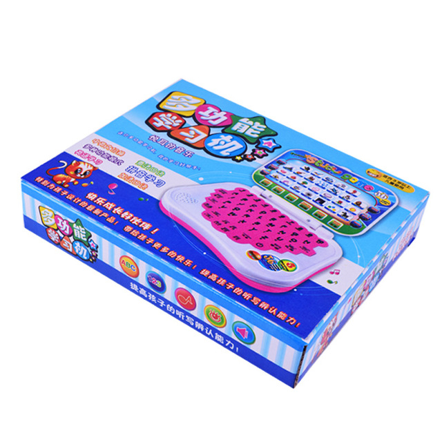 Cartoon fold Pronunciation Learning Machine English Alphabet Language Computer Baby Tablet Educational Toys Children Gift