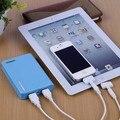 Wallet shape external universal power bank 8000mah pilas recargables para tablet