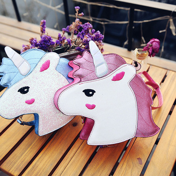 Lovely Unicorn Crossbody Bag Women Personality Messenger Bags Cute Shoulder Handbag Coin Purse Bags crossbody messenger bag фото