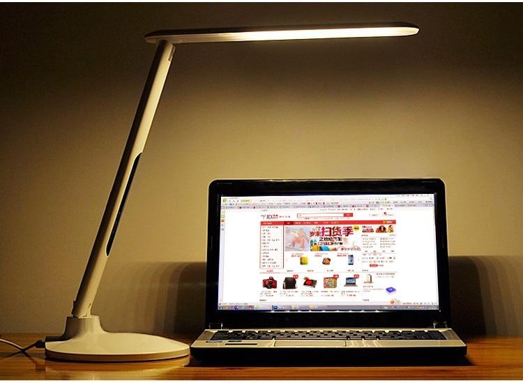 de leitura com calendário relógio flexível lâmpada