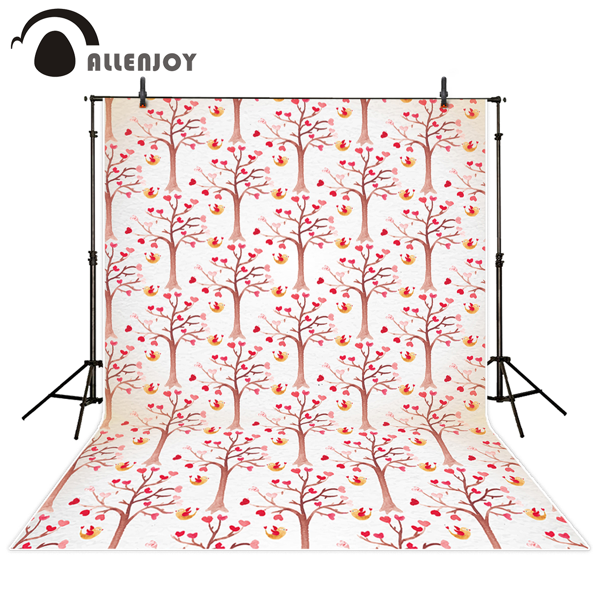 Allenjoy photography backdrops Valentine's Day tree hearts wedding bird for studio photo background for photographic studio allenjoy photography backdrops valentine s day heart love pink bokeh wedding photography background for studio photo background