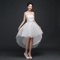 Fashion Beautiful Long And Short Irregular Chest Lace Bow Vestido Feminino Asimetrik Dress Party ASA01