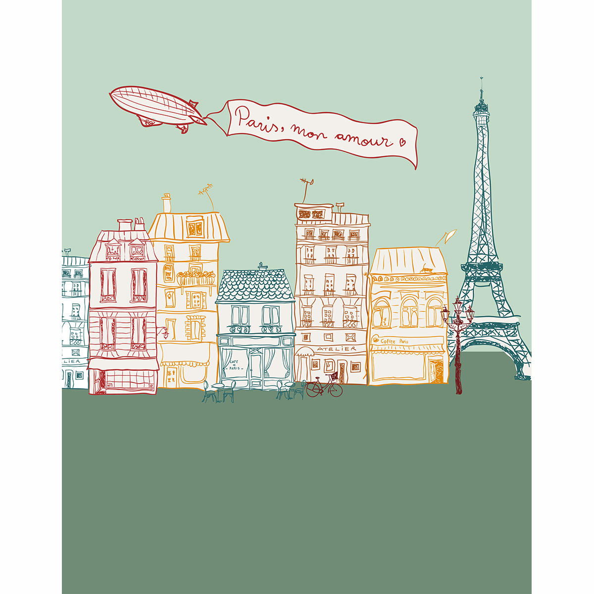 US $9 31 OFF Allenjoy Photography Backdrops Eiffel Tower Paris Cartoon City Street Love In Paris Photo Backdrop Vinyl For Photographic