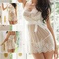 Nueva Gran tamaño sexy ropa interior de Las Mujeres perspectiva sling falda Conjunto de Lencería Sexy juguete Sexual Tentación ahueca hacia fuera Backless ropa de dormir