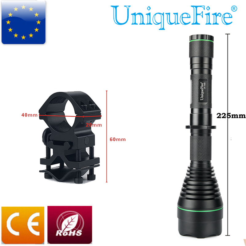 UniqueFire UF-1508-50 Rechargeable Led Flashlight IR 850nm Infrared Night Vision 3W +Gun Mount Design For Hunting And Waterproof uniquefire t20 4715s 850nm ir led flashlight infrared radiation night vision light for hunting rat tail charger scope mount