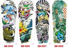 48 X 15CM Cool Men And Women Temporary Full Arm Tattoo (56 Design) #2