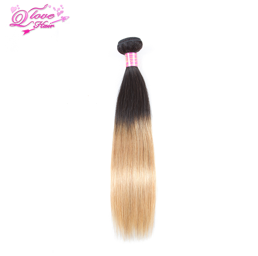 Queen Love Hair Bundles Blonde Brazilian Straight Hair Bundles Ombre Human Hair Bundles 1b 27 Brazilian Hair Weave Bundles(China)