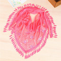New Brand Spring Summer Ladies Lace Sequin Scarf Tassel Fringe Triangle Warp Women Elegant Floral Bandage Scarves Shawl C-057