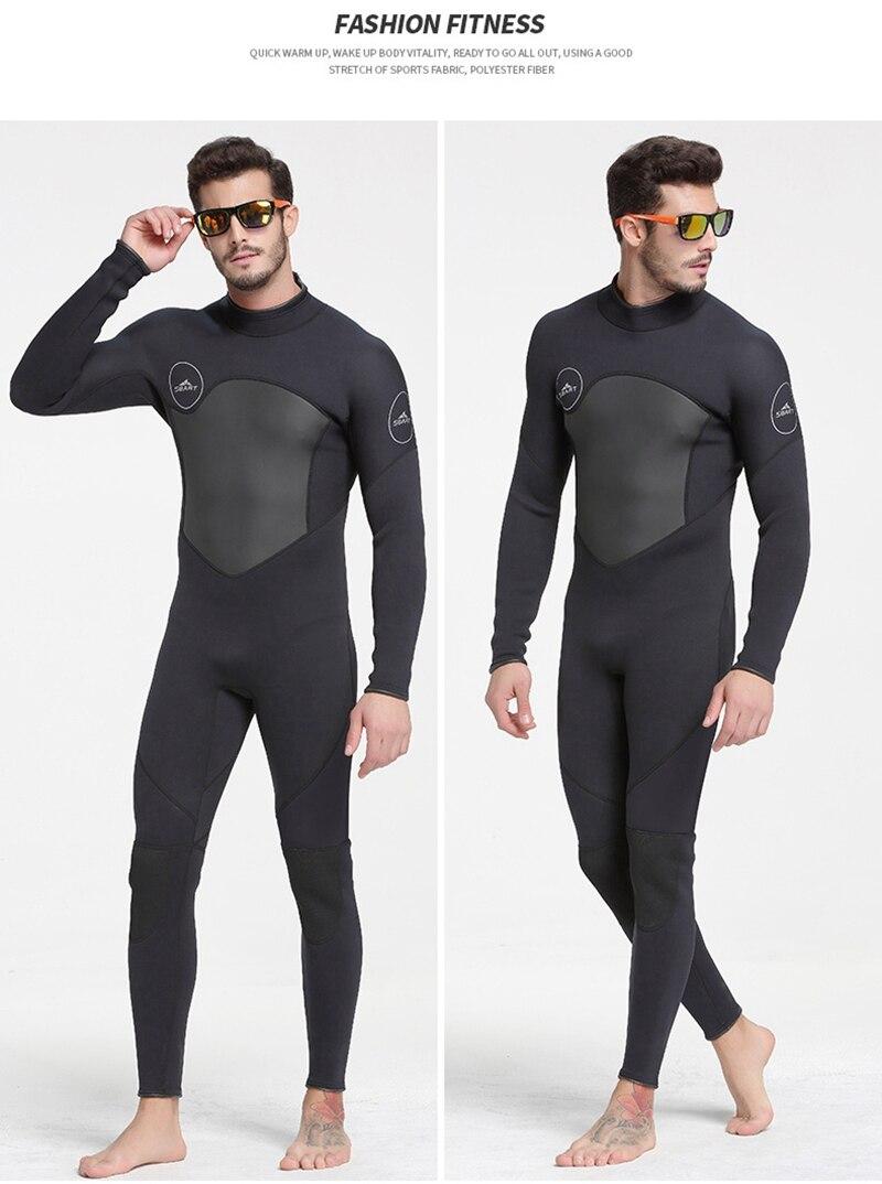 Sbart men 1.5mm neoprene wetsuit alta elasticidade