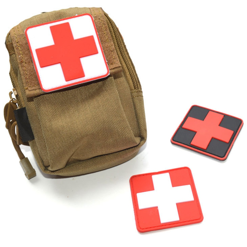 Medical Patch Medic With Backpack Sticker Fabric Army Morale First Aid Emergency Cloth Cross Badge Military Medical Patch