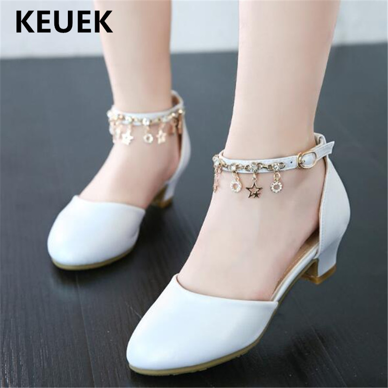 novas criancas branco sapatos de salto alto princesa meninas moda festa sapatos de danca do bebe